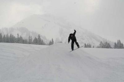 Skifahren Gruenten 45